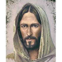 Lienzo En Tela. Rostro De Jesús. 55x70cm