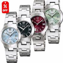 Reloj Casio Dama Ltp1241- Cristal Mineral -fechador-cfmx