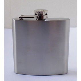 Porta Bebida Cantil Inox De Bolso 7oz 210ml Vodka Whisky *
