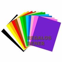 Planchas Goma Eva X 10 Colores A Elegir De 60 Cm X 42 Cm