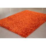 Alfombra Decorativa Pelo Alto Sala Oficina Naranja - Tomate