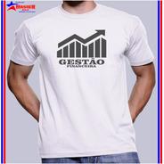 Camisa Camiseta Curso Universitárias Gestão Financeira