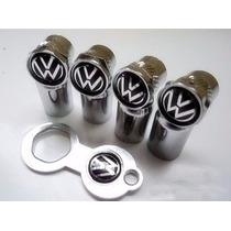 Bico Tampa Valvula Pneu Anti Furto Cromado Volkswagen Volks