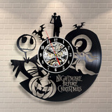 O Estranho Mundo De Jack- Relógio De Parede - Disco De Vinil