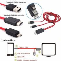 Mhl Micro Usb A Hdmi 1080p Hdtv Cable Del Adaptador