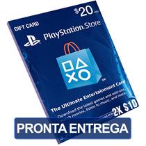 Cartão $20 Dólares Psn Card Us Playstation (2x $10)