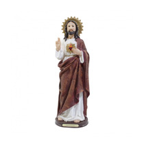 Imagem Sagrado Coração De Jesus Em Resina - 42cm