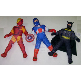 Muñecos Tela Batman Ironman Capitan America Hulk De 43 Cm