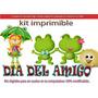 Candy Bar Dia Del Amigo Kit Imprimible Cotillon Golosinas
