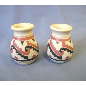 02 Mini Vasos Ceramica Marajoara
