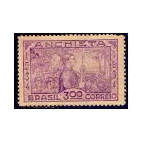Selo Brasil,religião/padre José De Anchieta 1934,novo.