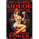 Uniquelover Whisky Licor En El Poker Frente Pin Up Chica Re