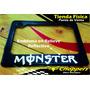 Porta Placa Moto De Monster Reflectivo