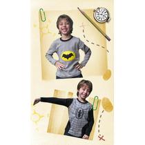 Remeras Con Luces Led. Araña-batman-superman-linterna Verde