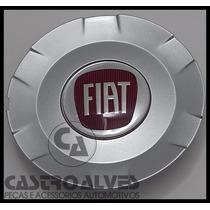 Calota Tampa Centro Roda Liga Leve Vermelho Fiat Stilo Aro15