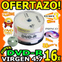 Wow Torre Dvd Virgen Pack 50 Dvd-r 16x Princo 4.7gb Respalda
