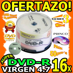 Wow Torre Dvd Virgen Pack 50 Dvd-r 16x Princo 4.7gb Respalda