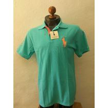 Camisa Playera Tipo Polo Ralph Lauren Verde Azul Agua Casual