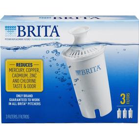 Brita Water Filter Pitcher Filtros De Repuesto Avanzados, 3
