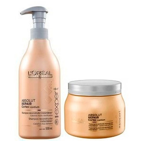 Loréal Absoult Repair Lipidium Shampoo 500ml +máscara 500g