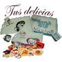 Desayunos Tus Delicias, Bandeja, Caja Y Taza Personalizada