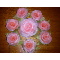 Rosas - Velas Para Centros De Mesa O Ceremonial Para 15 Años