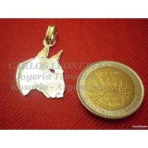 Bull Terrier - Dije Plata 925 - Oro 18k
