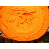 Pique Naranja Peinado Ancho 140 Cm X 2 Tubular Vta X Kg