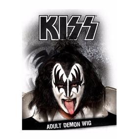 Peluca Demon Gene Simmons De Kiss Para Adultos Envio Gratis