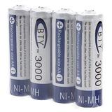 04 Pilha Aa Recarregável 3000mah 1,2v Nimh Bateria Turnigy