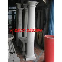 Columna Cemento Toscana 2.20 Lisa Gruesa Fabrica