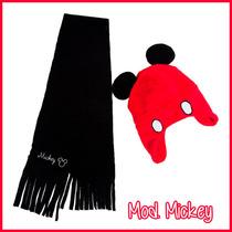 Set De Gorra Y Bufanda Para Niño Y Niña Mickey Minnie Disney