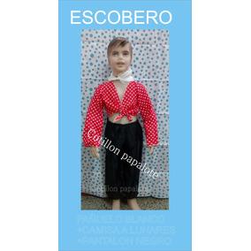Disfraz Patrio Escobero Negrito Vendedor Acto Talle 4/6/8/10