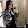 Blazer Casaquinho Listrado Moda Blogueira Instagram Outono