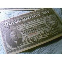 Facsimil De 20 Centavos Año 1890 Emitido Por Banco Nación