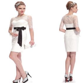 Vestido Branco E Preto Renda Festa Formatura Casamento Lindo