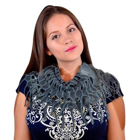 bufanda tejida en tubo corta x con envio gratis