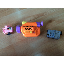 Set De 3 Cámaras De Tv De Jueguete Candy Cam, Vhs Cuerda .