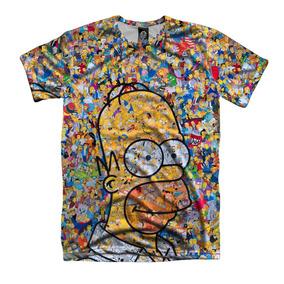 Homer Simpsons Acid Bart Colagem Camiseta Personalizada
