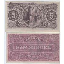 Antiguo Vale Colonia Aquino San Miguel De 5 Centavos!!!!!!!!