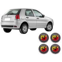 Jgo 4 Emblema De Roda Resinado Abarth Fiat Bravo Palio Siena
