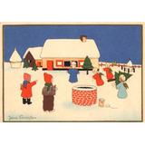 Lote X 3 Postales Navidad Antigua C 1940 Belgas Vintage