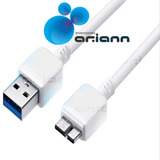 Cable Blanco Micro Usb B 3.0 Samsung S5 G900 Note 3 N9000