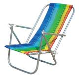 Cadeira De Praia 2 Posições Em Aluminio Cad0041 - Botafogo