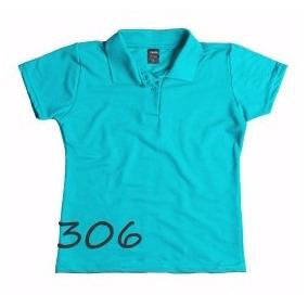 Kit Camisa Pólo Feminina Sem Bolso - Ref. 8378 Kit 5 Peças