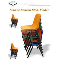 Silla Escolar Concha De Plastico Infantil Super Reforzada.