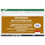 Programa De Facturacion Cuentas Por Cobrar,pagar Excel