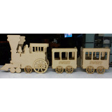 Tren Con Dos Vagones De Fibrofacil