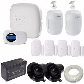 Kit Intelbras Alarme Monitorado 6 Sensores Central Amt2010