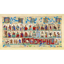 Lienzo Tela Cartas Tarot Florencia Italia 1700 Cábala Baraja